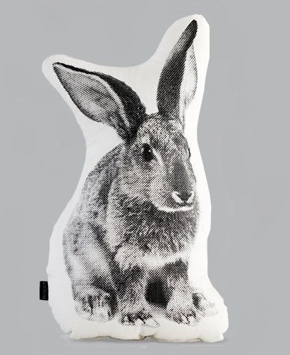 Bound into spring with these beautiful bunny cushions....buy them in UK at wolfandapple.co.uk