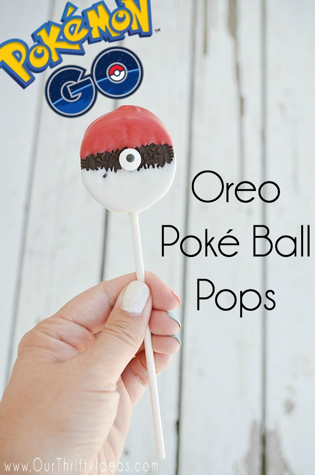 Create Oreo Poké Ball Pops that will have every Pokemon Lover excited! #PokemonGo
