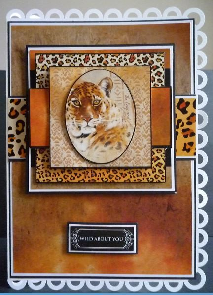 Card made using the new World Wildlife DVD Rom