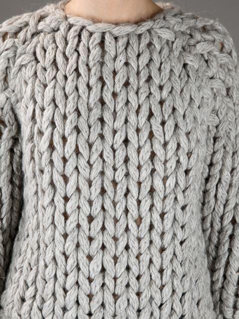 Mm6 By Maison Martin Margiela Heavy Knit Sweater