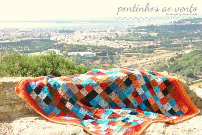 Crochet Granny Squares Blanket              pontinhos ao vento: Manta Patchwork