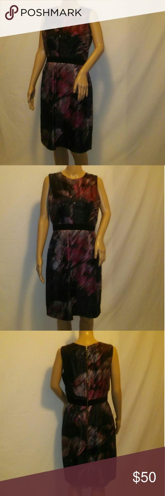 Beautiful Original Milly of New York. Dress. Made in USA and Sold at Niemen Marcus. 100% Italian Silk. 2 Front pockets, and Back zipper22 inches waist to hem. Excellent condition. Milly Dresses Midi