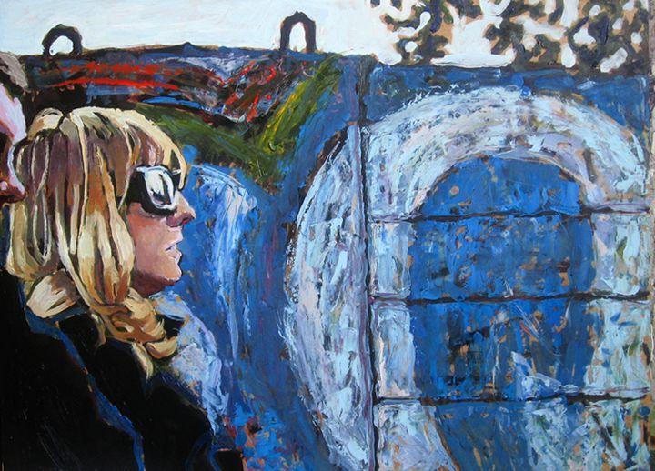 portret para malarstwo Urbaniak graffiti couple portrait painting