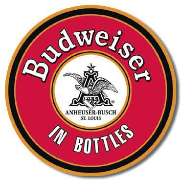 BUD In Bottles Round Sign