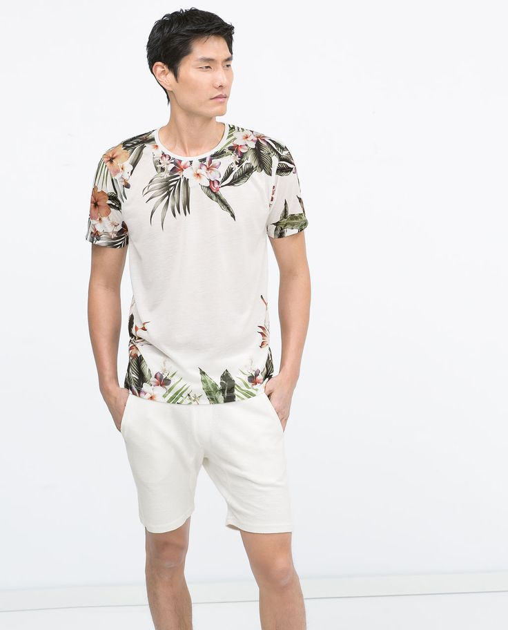 ZARA - MAN - FLOWERS T-SHIRT
