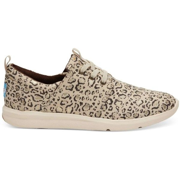 TOMS Natural Bobcat Gold Foil Women's Del Rey Sneakers Shoes (1,475 MXN) ❤ liked on Polyvore featuring shoes, sneakers, natural, toms shoes, mesh shoes, toms footwear, mesh sneakers and toms sneakers