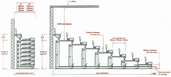 retractable seating system - Google Search