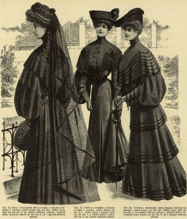 Stroje żałobne, 1903   Mourning outfits, 1903