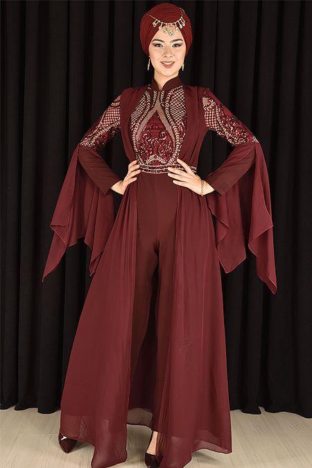 3a96bde9ce83e Modamerve Tesettür Tulum Abiye Elbise Modelleri   Tesettür   Elbise ...