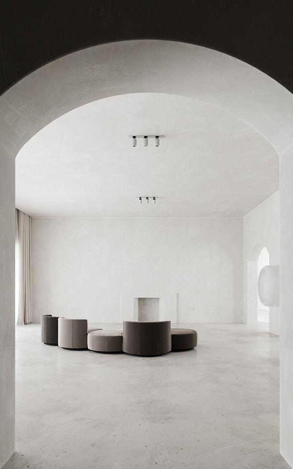 Minimalist Monastery on Behance | Minimalist house design, Minimalism  interior, Minimalist home