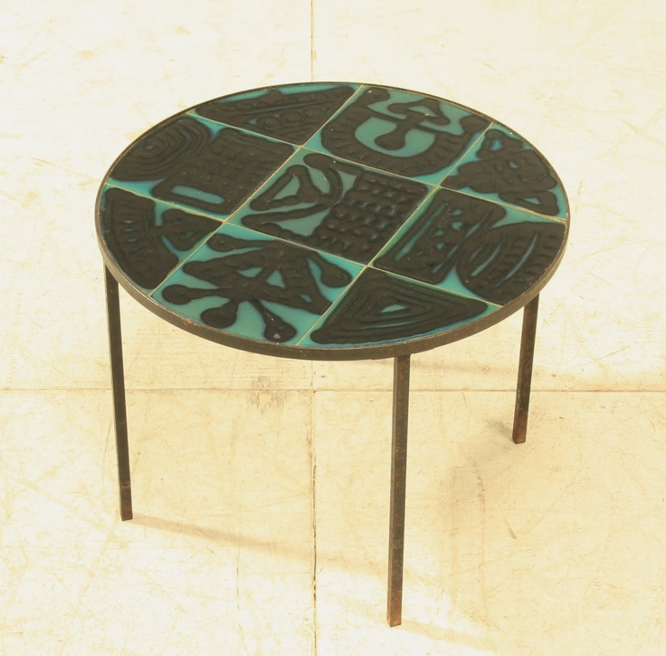 French, Ceramic Side Table, C.1950u0027s · Retro FurnitureFurniture SetsFurniture  DesignCeramic TableModern ...