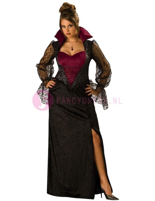Female Midnight Vampier kostuum (Maatje Groter)