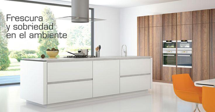 """Frescura y sobriedad en el ambiente con """"Eclectic"""" Colección Tablemac 2014 #Cocina #diseño #design #color #Interiores"""