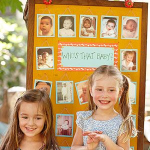 Plan a Fun-Filled Family Reunion: Guess Who? (via Parents.com) Baby photos, kids guess who they are!