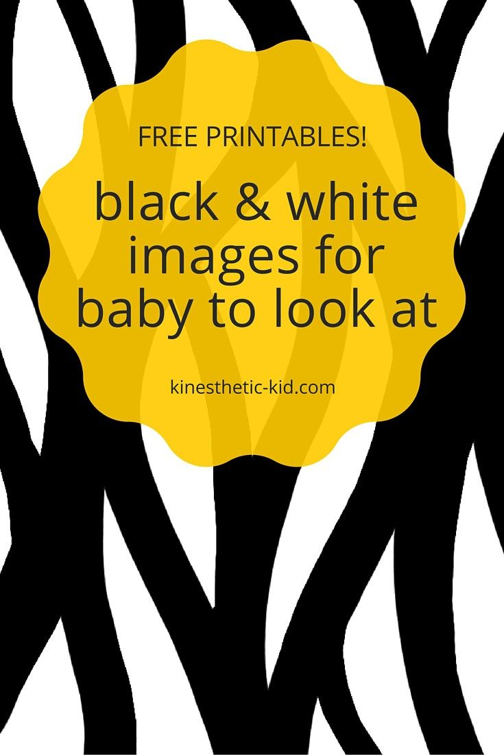 Here are some free black and white images to print out for baby!