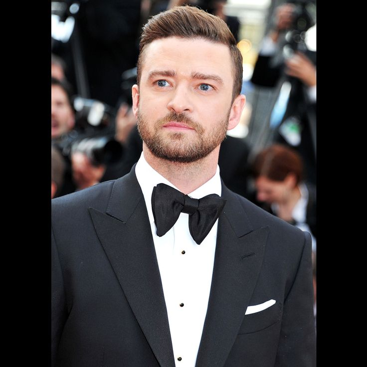Justin Timberlake wore a TOM FORD black O'Connor tuxedo with peak lapel and grosgrain details, white dress shirt with black stud detail, black grosgrain bowtie and black dress shoes to the premiere of 'Café Society' at the 2016 Cannes Film Festival. #TOMFORD #CafeSociety #Cannes2016