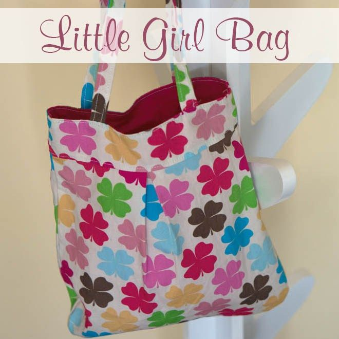 Free  sewing pattern for little girls bag sewing pattern