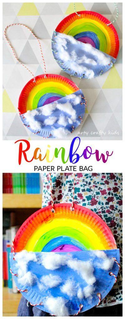 Rainbow Paper Plate Bag