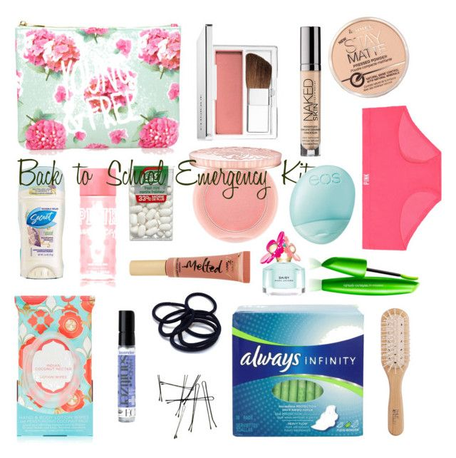 Back to school emergency kit by sophie-talley on Polyvore featuring polyvore, beauty, Clinique, Paul & Joe, Sephora Collection, Too Faced Cosmetics, Victoria's Secret PINK, Marc Jacobs, Pacifica, Eos, Forever 21, Philip Kingsley and COVERGIRL