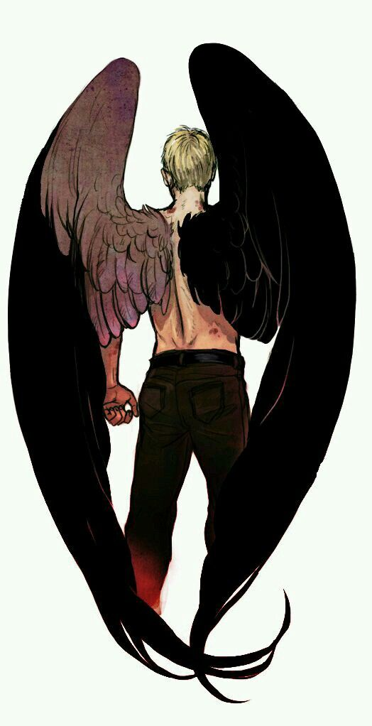 angel winged shirtless back male reference