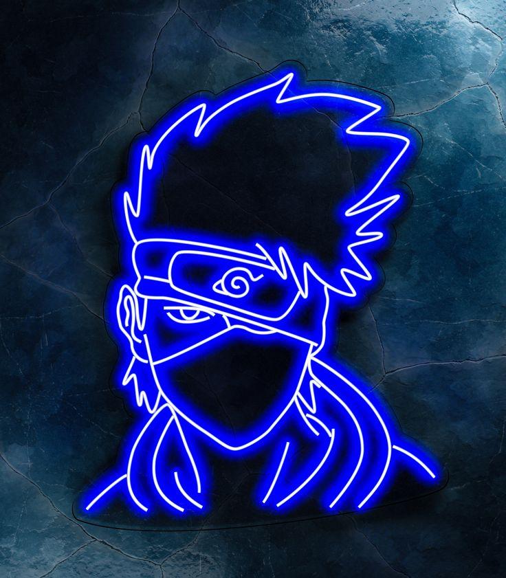 Anime neon sign kakashi neon sign anime neon light
