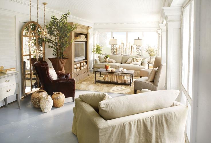 Emory slipped sofa arhaus furniture living rooms for Arhaus furniture