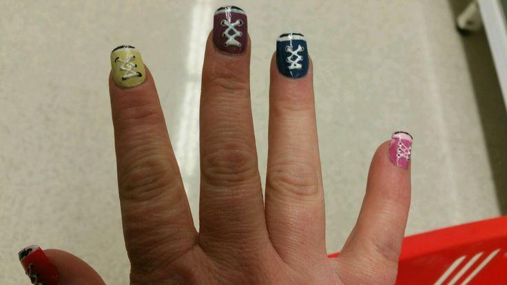 Shoes nail art