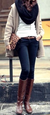 1000  images about Winter Wardrobe on Pinterest | Brown boots