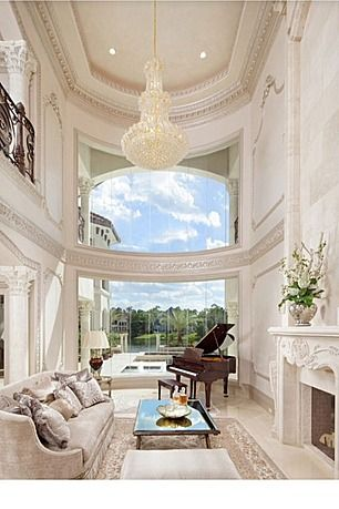Sneller Custom Homes And Remodeling LLC Theyre In Houston The Decorations Might Be A Little Too Over Top But I Love High Ceilings Baby