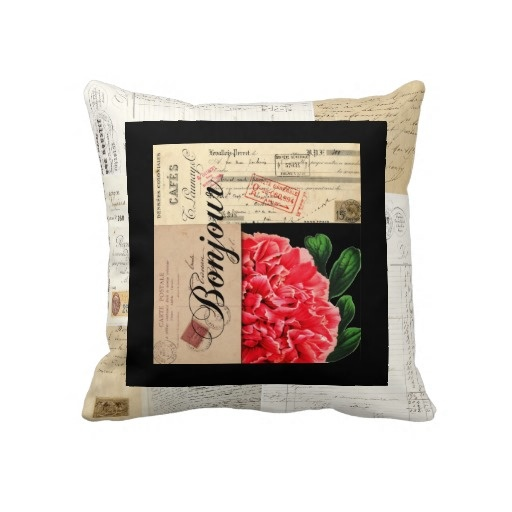 French Peony Bonjour Pillow