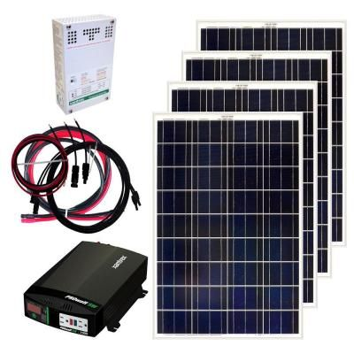 $1,425.00 Grape Solar 400-Watt Off-Grid Solar Panel Kit-GS-400-KIT at The Home Depot