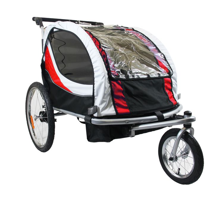 Clevr Deluxe 3in1 Double Seat Bike Trailer Stroller