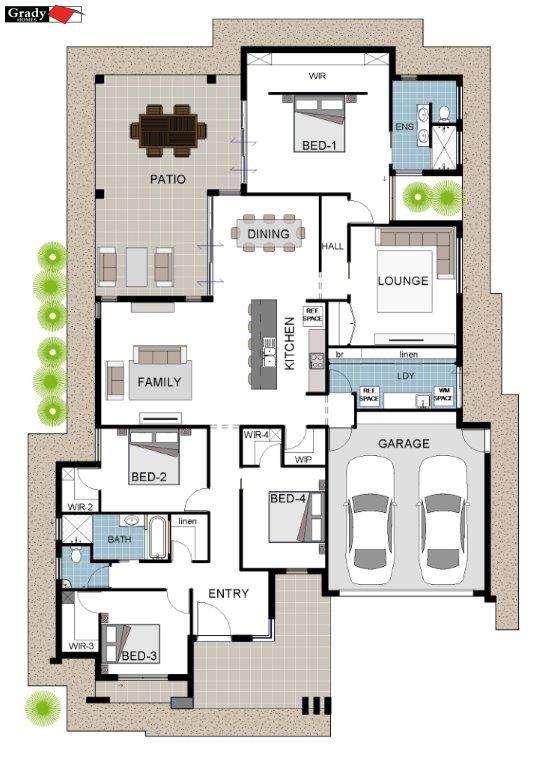 608318 Townsville New Homes Willowbank Estate Grady Homes - magnetic custom floor plan