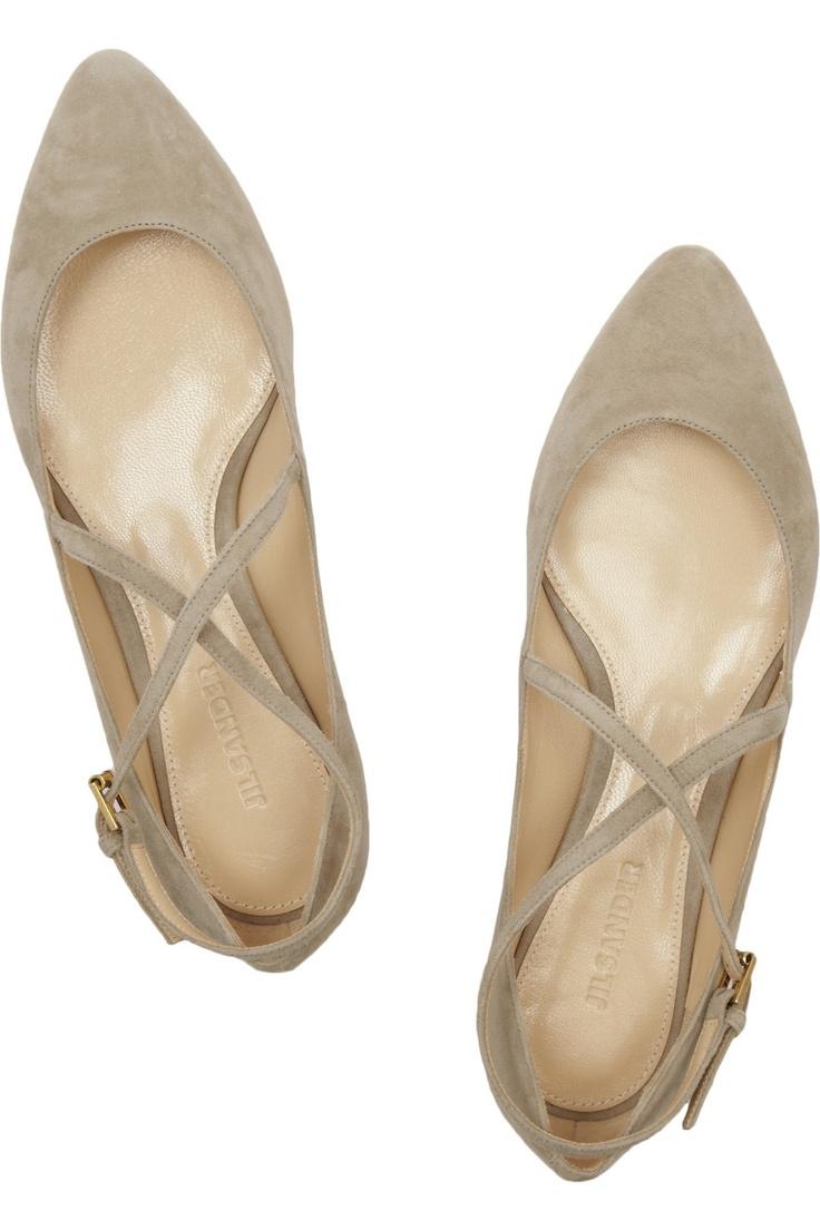 suede ballet flats ++ jil sander: Shoes Jilsander, Flats Jilsander, Nude Flats, Jill Sander, Jil Sander, Jilsander Ballet, Flats Shoes, Ballet Flats, Flat Shoes