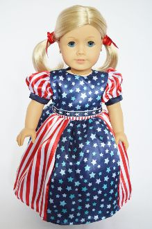 Special American Red white blue Gown available at www.harmonyclubdolls.com