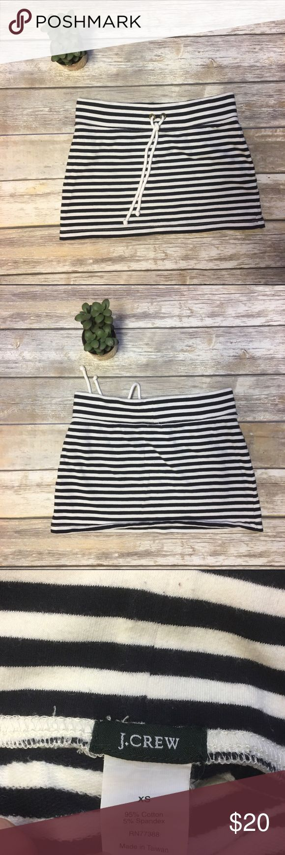 J. Crew Nautical Skirt Super adorable Nautical striped skirt by J. Crew. Drawstring waistband and soft, stretchy material. J. Crew Skirts Mini
