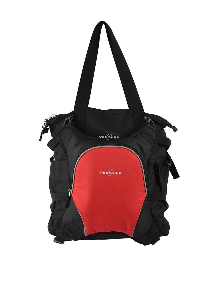 Amazon.co.jp: オベルシー [Obersee] インスブルック トート マザーズバッグ レッド Innsbruck Diaper Bag Tote with Cooler Black/Red 【並行輸入品】: シューズ&バッグ