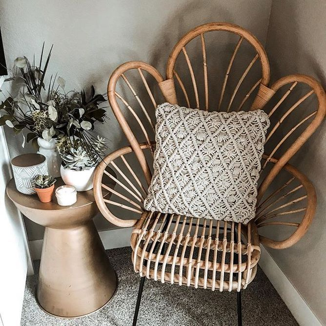Outstanding Avocet Rattan Fan Back Accent Chair Opalhouse Brown In Lamtechconsult Wood Chair Design Ideas Lamtechconsultcom