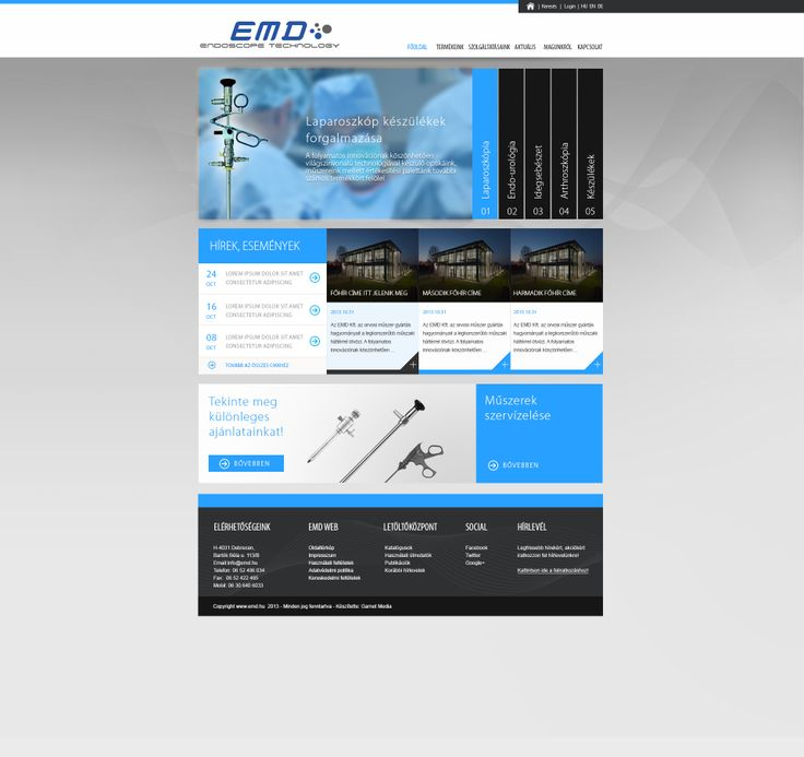 http://emd.hu webdesign concept