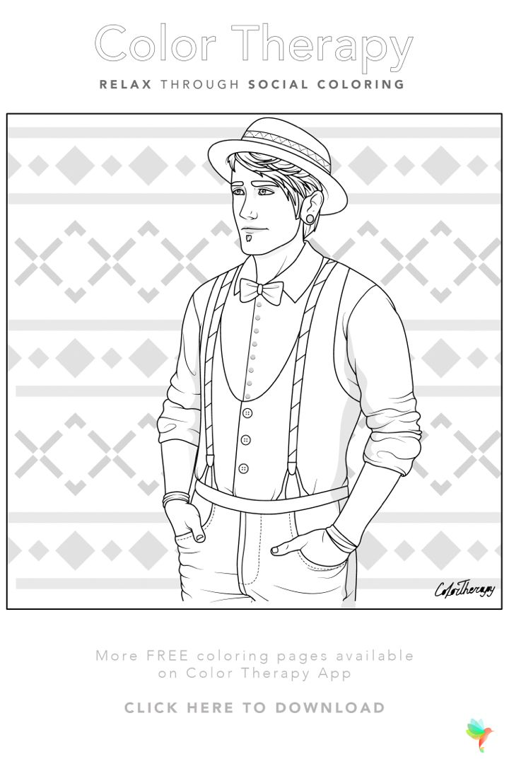 free coloring page created by