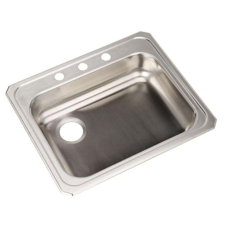 Elkay Celebrity GECR2521L3 Single Basin Drop In Kitchen Sink   786664. 25  best ideas about Drop In Kitchen Sink on Pinterest   Drop in