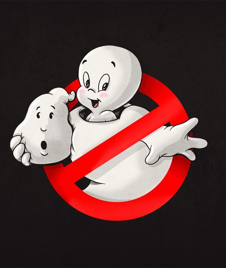 Ghostbusters & Casper funny art find... Personagens da cultura pop são 'desmascarados' em ilustrações