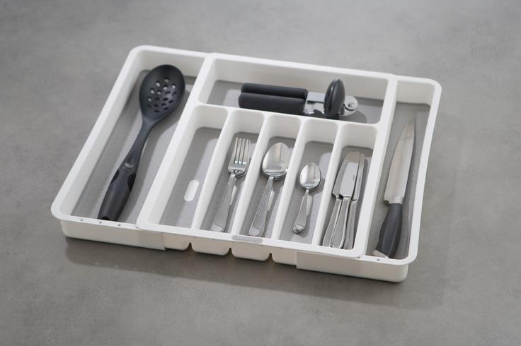 Expandable Cutlery Tray with Grip Base. $44.95. Available at Howards Storage World  #howardsstorage #mychristmaswishlist