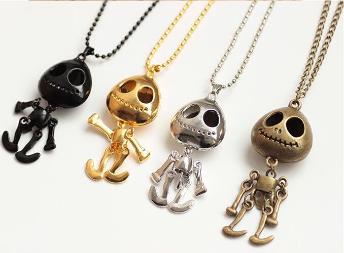 2015 New Fashion Personal Generous Women & Men Big Eyes UFO Alien Skull Necklace Long Sweater Chain Necklace Free Shipping