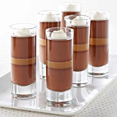 Dark Chocolate Caramel Panna Cotta ||  Ghirardelli