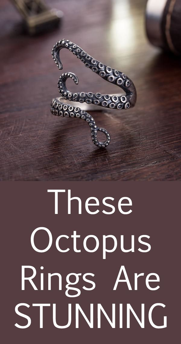 We're loving these Octopus rings. Who else wants one?