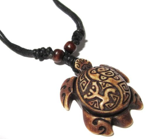 Brown Turtle Necklace - Coqui Tribal Frog and Taino Sun ...