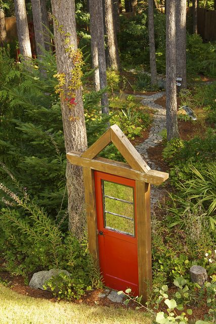 """Door to the forest - On an early autumn day, Larissa took this shot of a wild door on Vancouver Island. This particular """"Door to the Forest"""" leads to MulBerryLand Guest House, down the path and through the woods in Comox, B.C."""