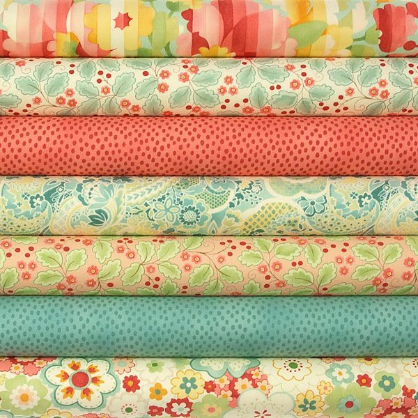 Chez Moi Fabric Pack Mimi in Coral Chez Moi Fabric Pack Mimi in Coral Moda fabric fat quarter bundle from Eclectic Maker [CM7FQMIMI] : Patchwork, quilting and dressmaking fabric, patterns, habberdashery and notions from Eclectic Maker