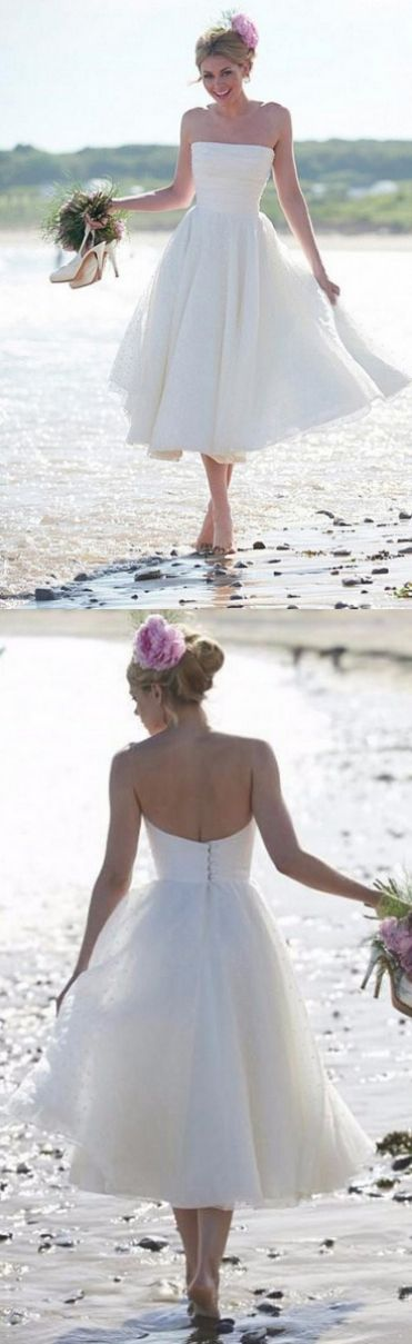 cute, simple beach wedding dress